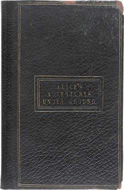 Cover of the manuscript of Alice's Adventures Underground, courtesy of the British Library.