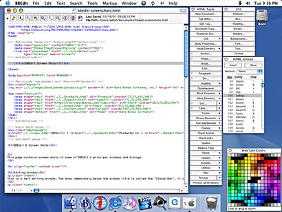 Screen grab of bbedit lite's interface from a review at www.php-editors.com.