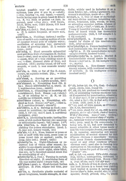 Sample Concise Oxford English Dictionary page.