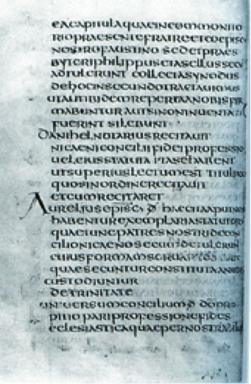 Sample of late medieval scriptura continua.
