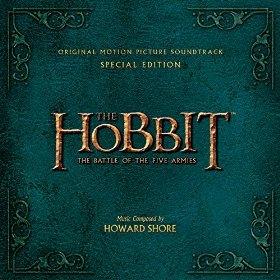 Cover snap of the special edition sound track for Hobbit III.