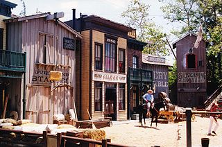 Photo of a former universal studios western set from wikimedia commons.