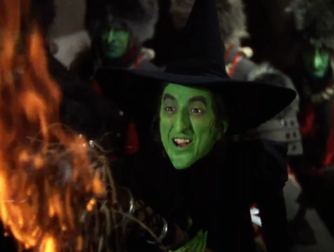 The Wicked Witch of the West from the MGM film, played by Margaret Brainard Hamilton.